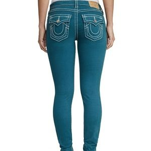 Big T Sateen Super Skinny Jeans w/ Flap Pocket